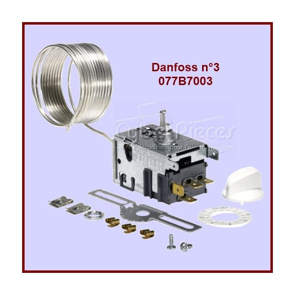 Thermostat Danfoss N°3 - 077B7003 Dégivrage Automatique