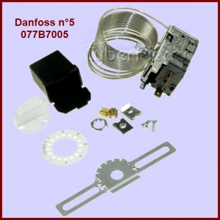 Thermostat Danfoss N°5 - 077B7005 Pour Congélateurs sans Alarme