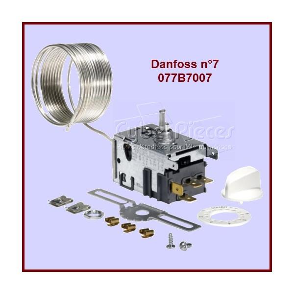 Thermostat Danfoss N°7 - 077B7007 Pour Congélateur à signal Alarme Passif