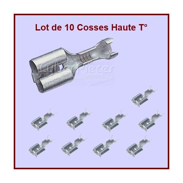 Lot de 10 cosses Haute température 6.3mm (07140)