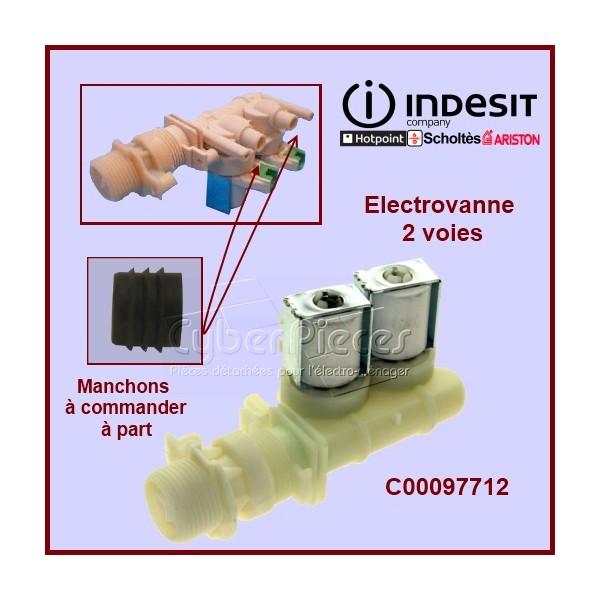 Électrovanne 2 voies 90° - Ø 10 mm à connecteur  C00097712