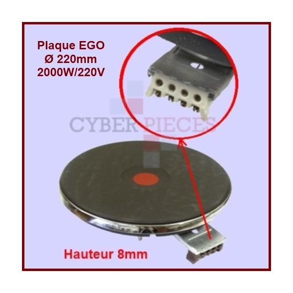 Foyer fonte 2000w/220v - Ø220mm - 8mm