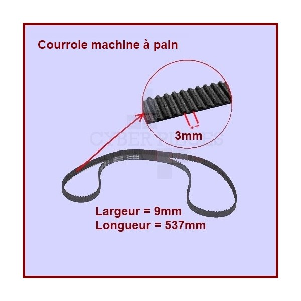 Courroie 537mm machine à pain - SS-186171