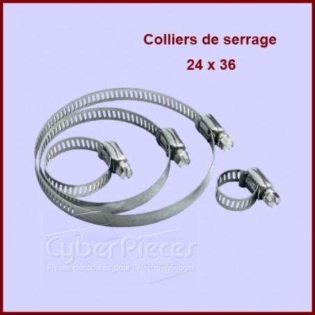 Collier de serrage 24X36 à la pièce
