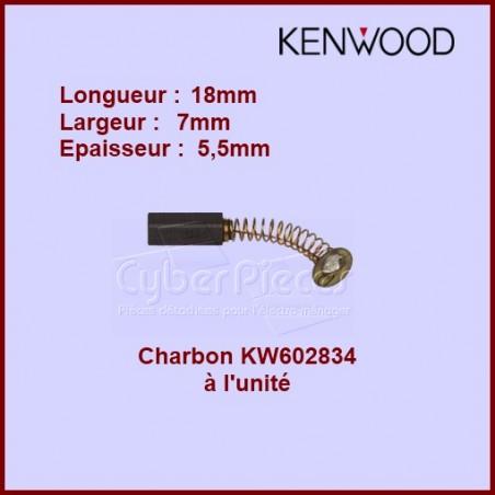 Charbon Kenwood à l'unité - 7x5,5x18  -  KW602834