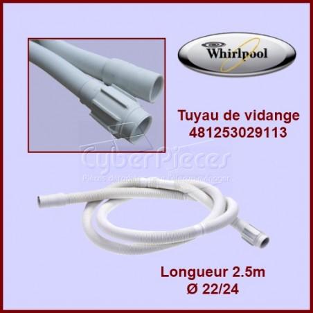 Tuyau de vidange 2.10m Whirlpool 481253029113