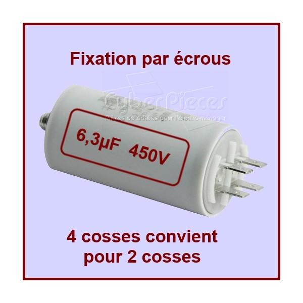 Condensateur 6,3µF (6,3MF) 450 Volts