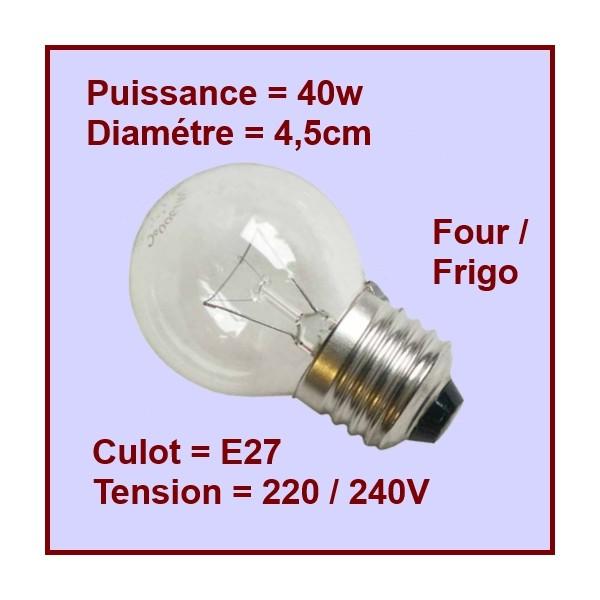 Ampoule E27 40w 220/240v