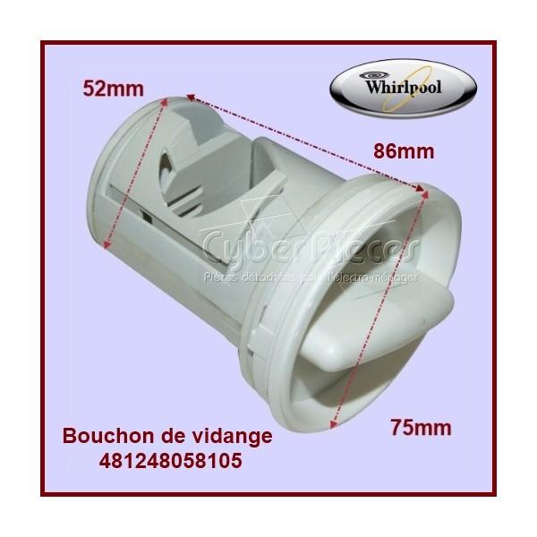 bouchon de vidange 481248058105 pour machine a laver lavage pieces detachees electromenager. Black Bedroom Furniture Sets. Home Design Ideas