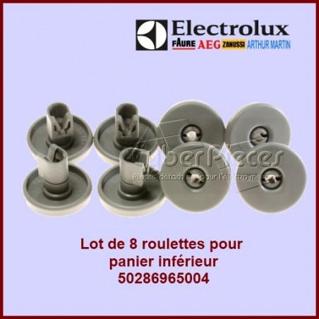 Lot de 8 roulettes inférieures grises Electrolux 50286965004