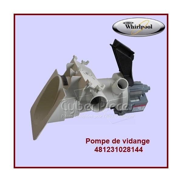 pompe de vidange compl te 481231028144 pour pompe de vidange machine a laver lavage pieces. Black Bedroom Furniture Sets. Home Design Ideas