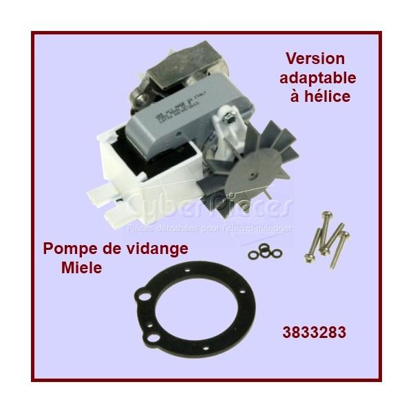 Pompe de vidange à helice adaptable pour Miele 3833283