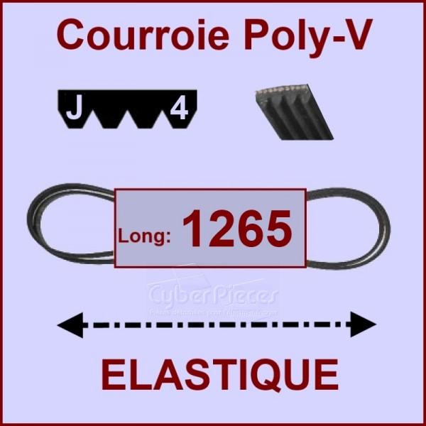 Courroie 1265 J4 - EL- élastique