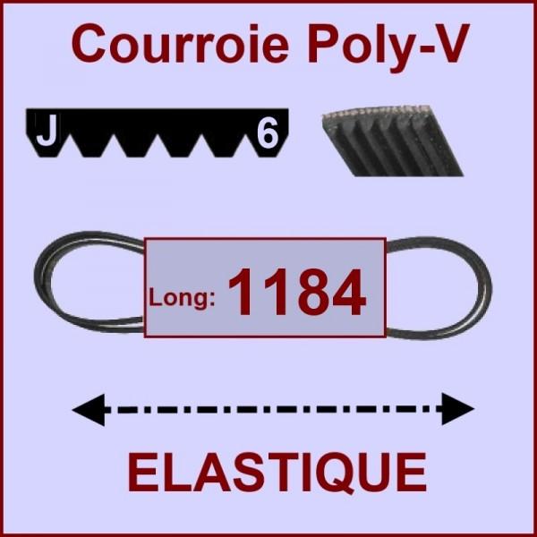 Courroie 1184 J6 - EL- élastique