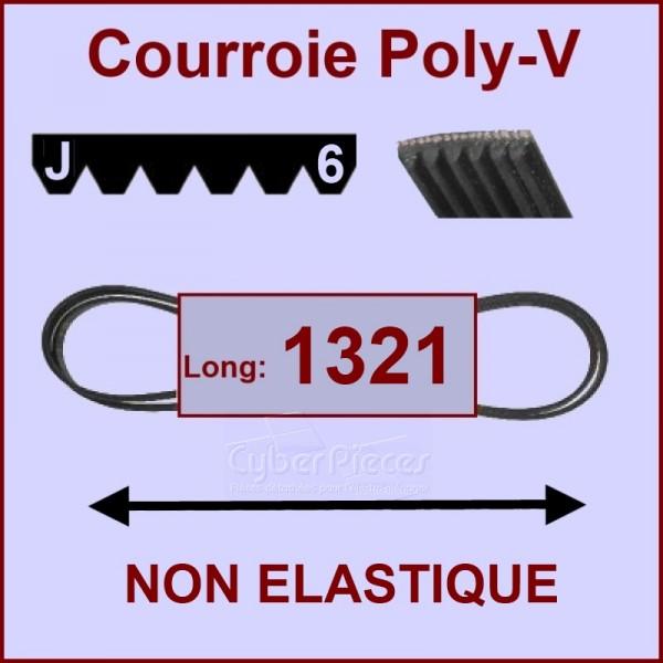 Courroie 1321 J6 non élastique