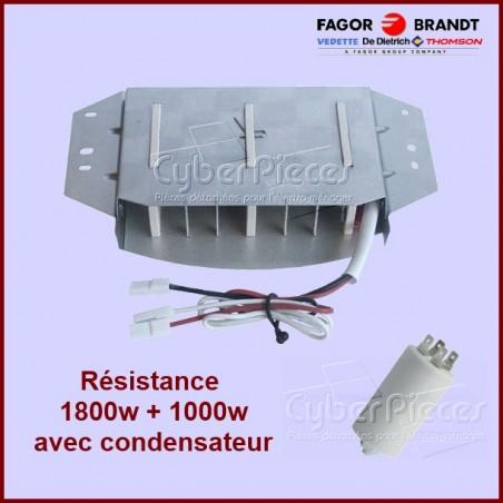 Résistance 1800W+1000W - 230v avec condensateur 57X1299