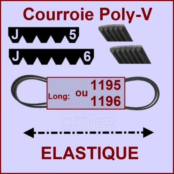 courroie 1195 j5 ou 1196 j6 el lastique pour courroies. Black Bedroom Furniture Sets. Home Design Ideas