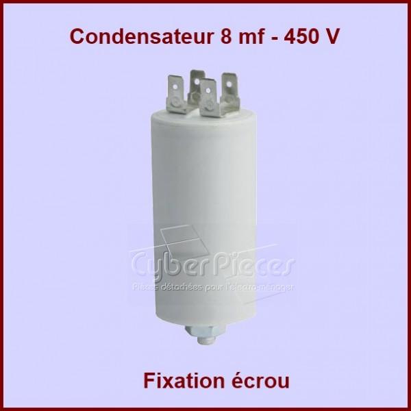 condensateur 8mf 450v 8 f pour s che linge lavage. Black Bedroom Furniture Sets. Home Design Ideas