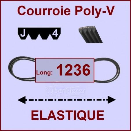 Courroie 1236 J4 - EL- élastique