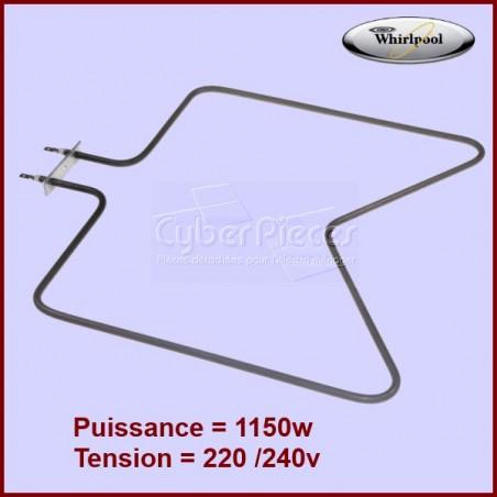 Resistance De Sole 1150W Whirlpool 480121100591