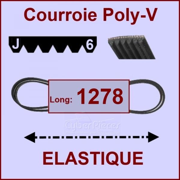 Courroie 1278 J6 - EL- élastique