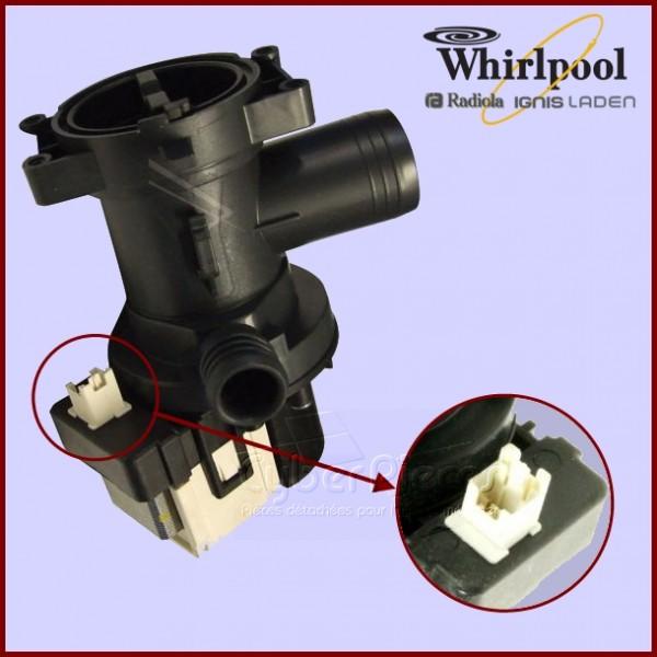 Pompe de vidange whirlpool 480111101014 481010584942 pour - Vidange machine a laver ...