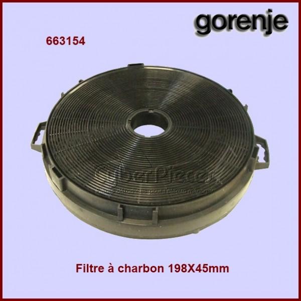 Filtre à charbon 198 x 45 mm - 663154