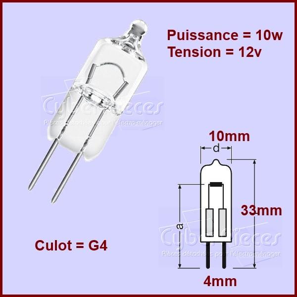 LAMPE HALOGENE 12v 10w Culot G4