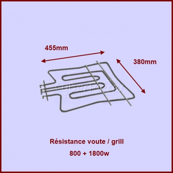 Resistance voute/grill 800+1800w
