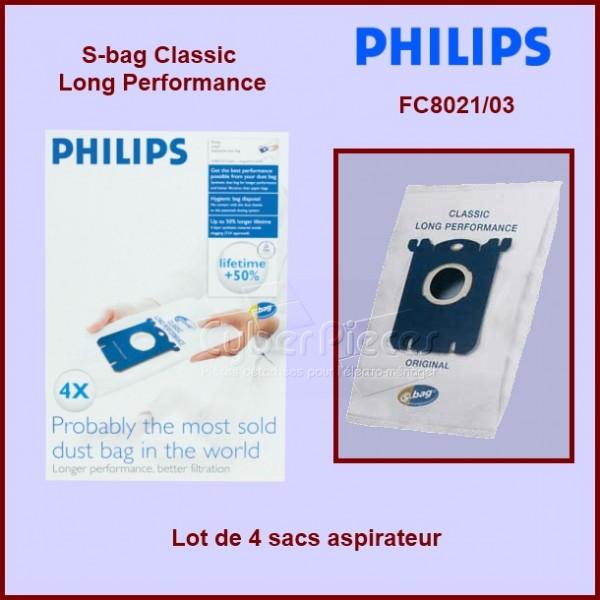 Lot de 4 sacs aspirateur FC8021/03