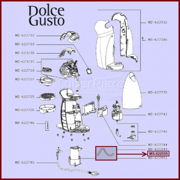 tube silicone 1 metre 622559 pour dolce gusto machine a. Black Bedroom Furniture Sets. Home Design Ideas