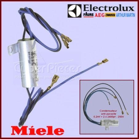Filtre condensateur anti-parasite pour aspirateur