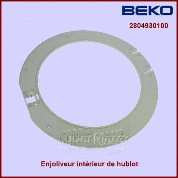 Cadre int rieur beko 2804930100 pour hublot machine a - Stickers pour machine a laver hublot ...
