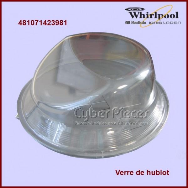 Verre de hublot Whirlpool 481071423981