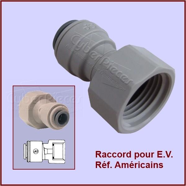 tuyau d 39 alimentation d 39 eau raccords 484000000134 pour refrigerateurs americains side by side. Black Bedroom Furniture Sets. Home Design Ideas