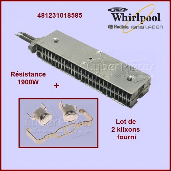 Résistance 1900w + 2 Klixons 481231018585