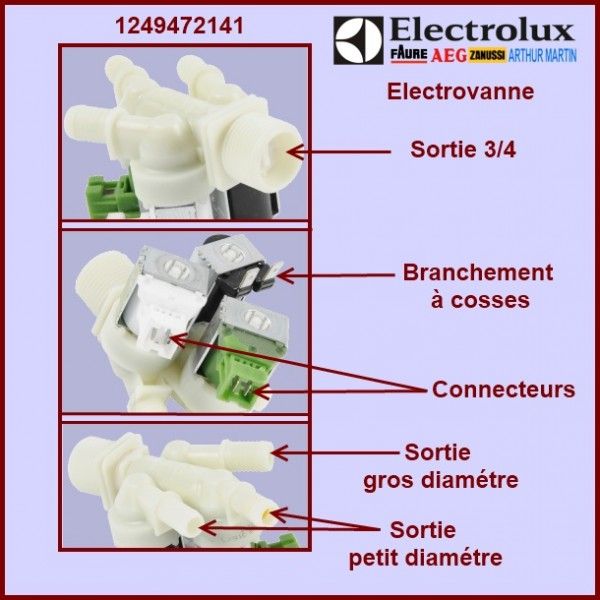 Branchement electrovanne machine a laver
