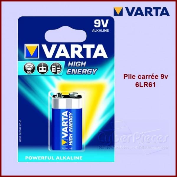 Pile carrée alkaline 9V - VARTA - 6LR61