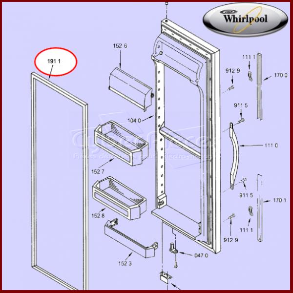 Joint magnétique de réfrigérateur 481244078952