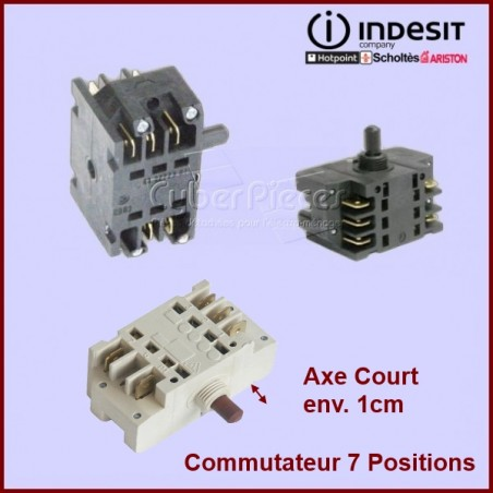 Commutateur 7 Positions Axe Court Ego 4132723010