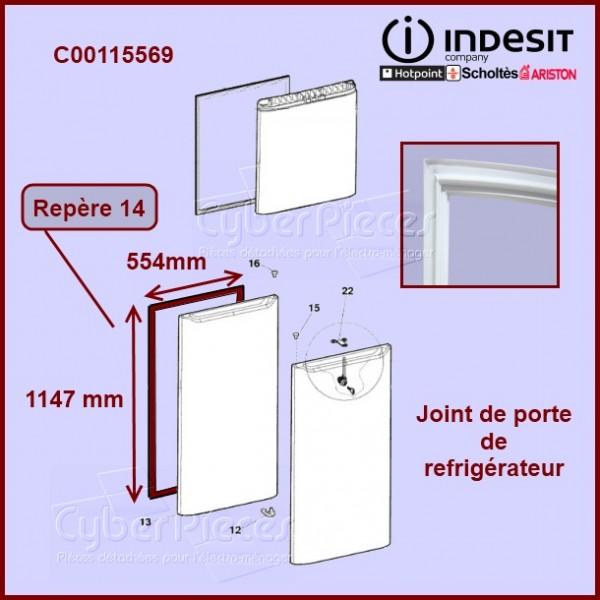 Joint de porte réfrigérateur C00115569