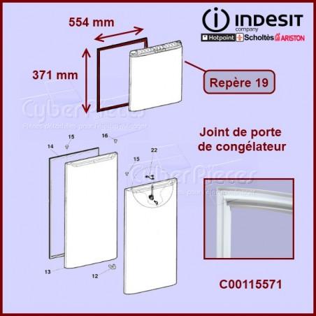 Joint de porte congélateur C00115571