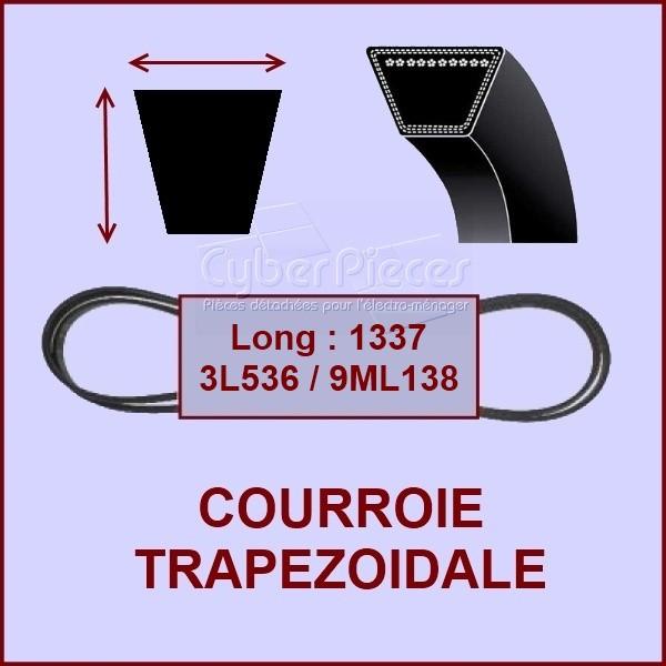 Courroie trapézoïdale 10 X 6 X 1337 / 3L536 - 9ML138