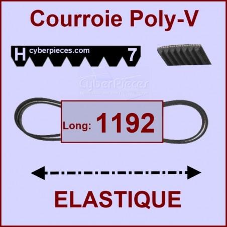 Courroie 1192 H7 - EL- élastique