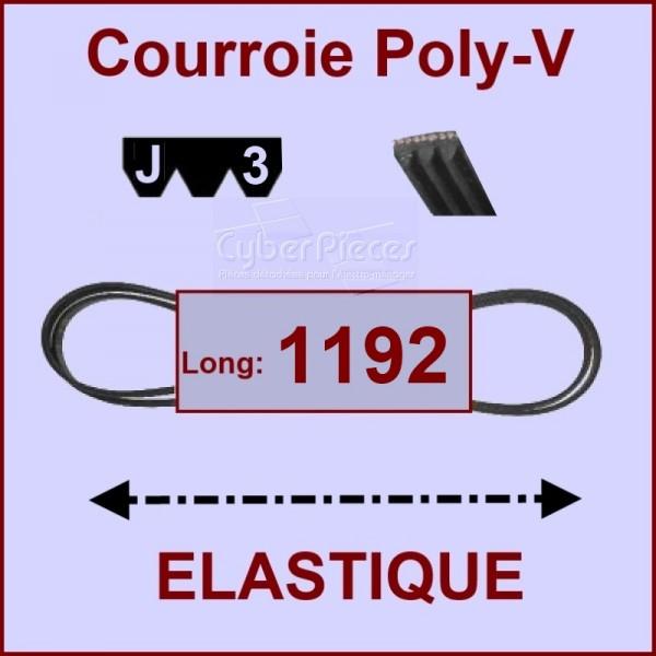 Courroie 1192 J3 - EL- élastique