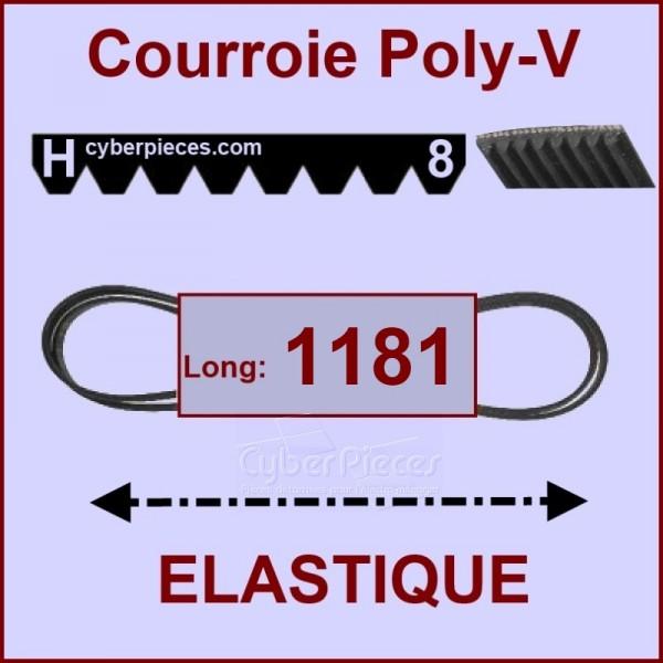 Courroie 1181 H8 - EL- élastique