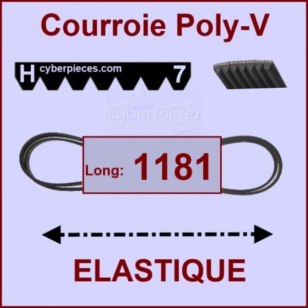 Courroie 1181 H7 - EL- élastique