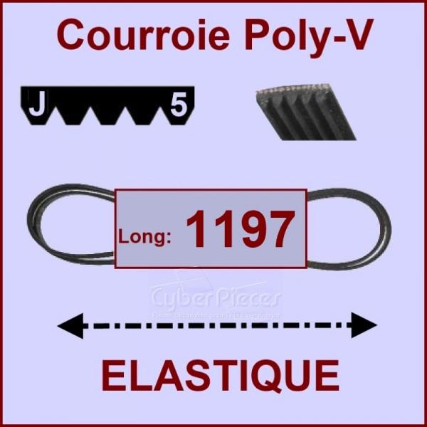 courroie 1197 j5 el lastique pour courroies machine a. Black Bedroom Furniture Sets. Home Design Ideas