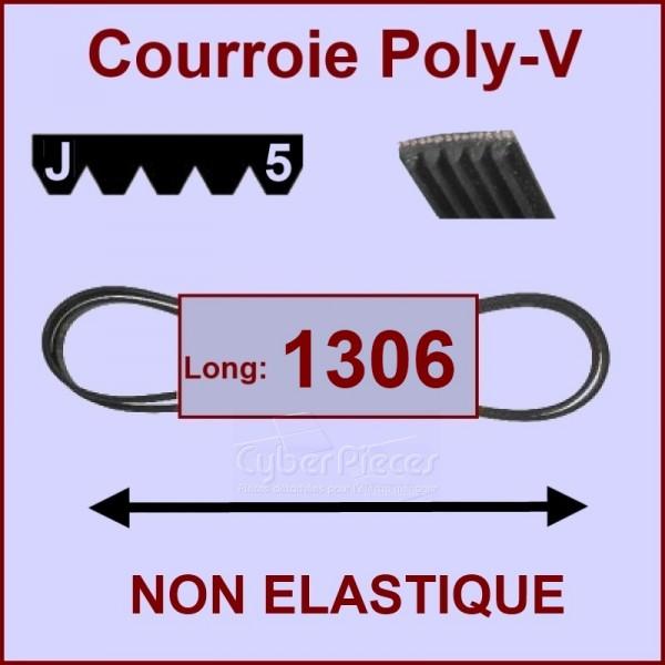 Courroie 1306 J5 non élastique