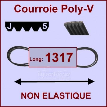 Courroie 1317 J5 non élastique